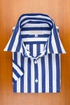 LARGE STRIPES IN NAVY AND WHITE