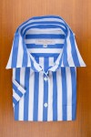 LARGE STRIPES IN ROYAL BLUE AND WHITE