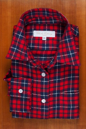 BRUSHED COTTON RED TARTAN