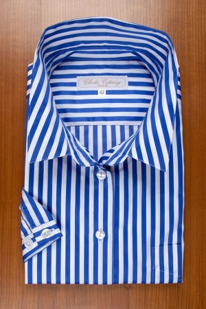 ROYAL BLUE SATIN STRIPES