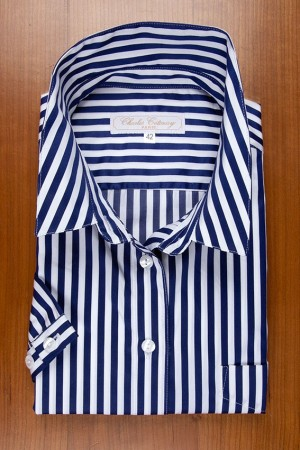 NAVY AND WHITE SATIN STRIPES