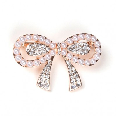 PINK KNOT WITH PEARL & STRASS