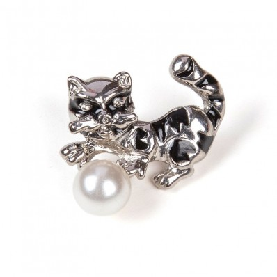 CAT & PEARL SILVER