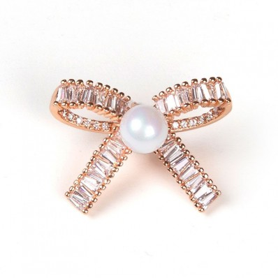 SMALL KNOT WITH PEARL PINK
