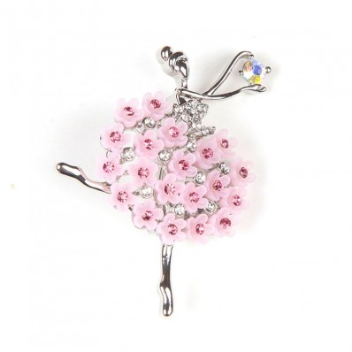DANCER WITH STRASS & PINK FLOWERS