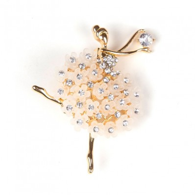 DANCER WITH STRASS & GOLD FLOWERS