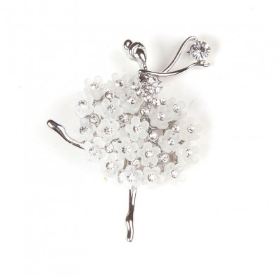 DANCER WITH STRASS & WHITE FLOWERS