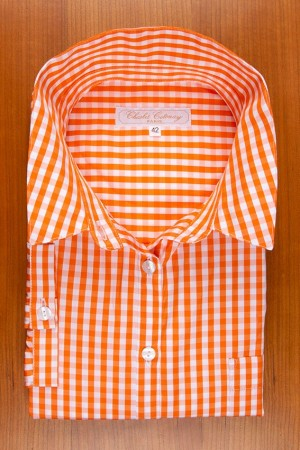 DRESS ORANGE GINGHAM