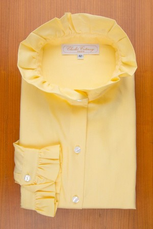 RUFFLE COLLAR, YELLOW COLOR