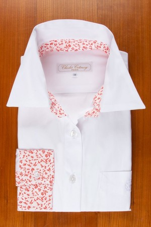 WHITE, COLLAR AND CUFFES IN LIBERTY