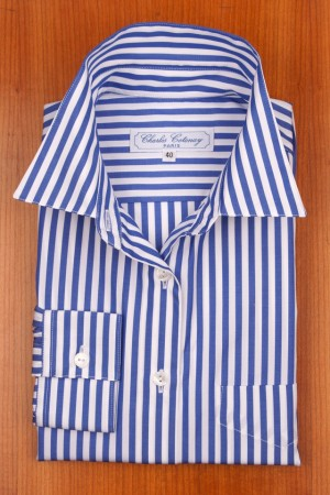 Royal blue and white stripes