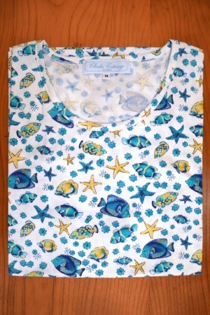 TEE SHIRT COTTON JERSEY, FISHES