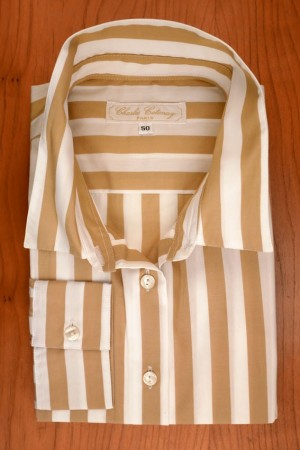 WIDE STRIPES, BEIGE/WHITE