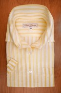 VOILE, STRIPES YELLOW/WHITE