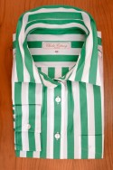 WIDE STRIPES, GREEN/WHITE