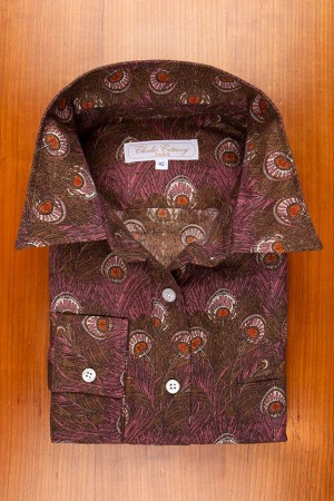 THIN FLANELL, PRINTED OF PEACOK FEATHERS