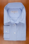 THIN COTTON FLANELL , GINGHAM CHECK BLUE/WHITE