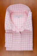 THIN COTTON FLANELL , WHITE AND PINK CHECKS