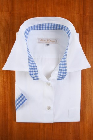 WHITE AND BLUE GINGHAM