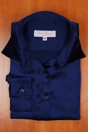SILK SATIN, NAVY BLUE