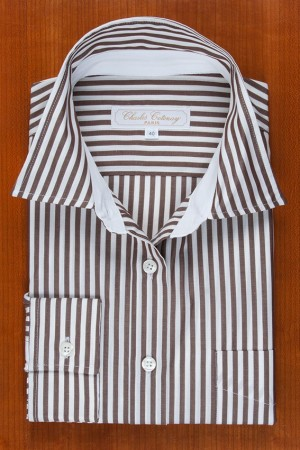 BROWN AND WHITE STRIPES