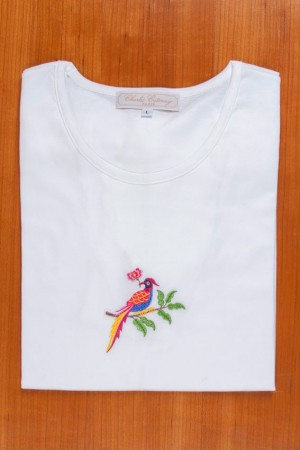 TEE SHIRT, EMBROIDERY: PARADISE BRID