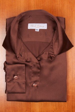 SILK SATIN, BROWN COLOR