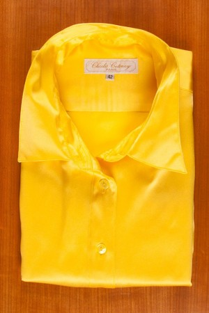 SATIN OF SILK IN YELLOW COLOR