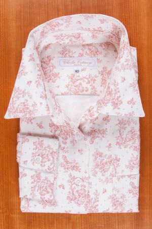 BRUSHED COTTON, PASTORAL SCENE, PINK