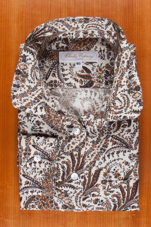FLANNEL, BROWN PAISLEY