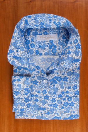 THIN COTTON FLANELL, BLUE FORGET ME NOT