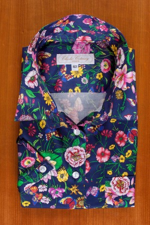 FLORAL PRINT ON COTTON SATIN 2