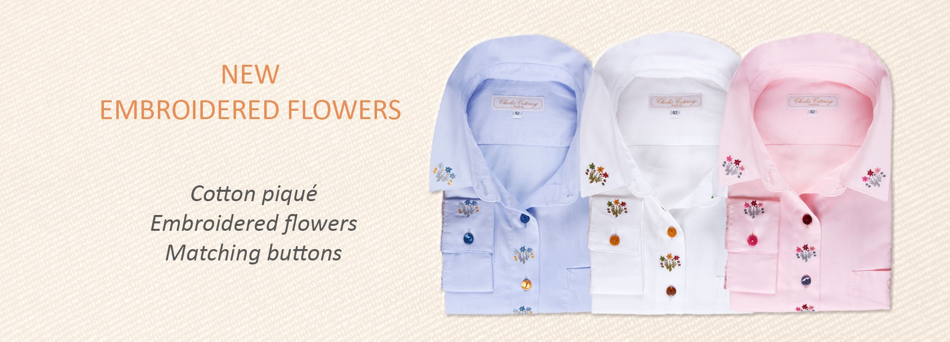 Embroidered flowers shirt
